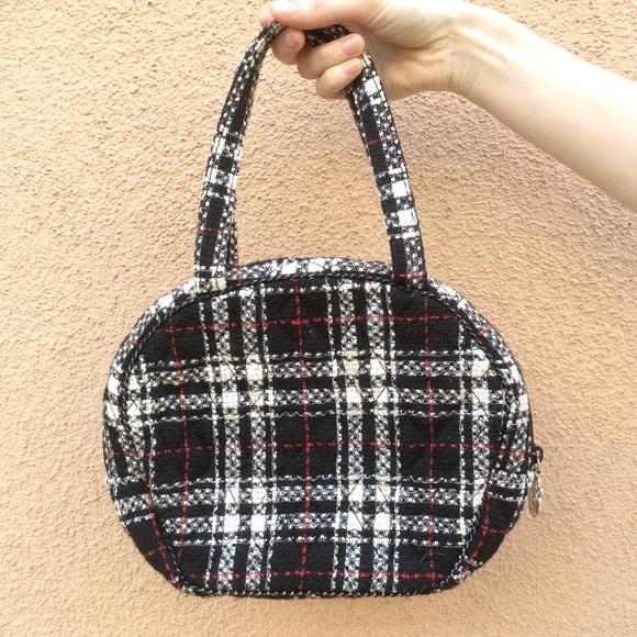Vera Bradley Handbags - Vintage Vera Bradly Mini Winter Plaid Round Purse